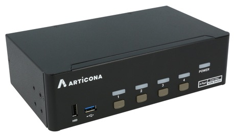 Switch KVM Articona DP DualHead 4 ports