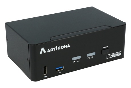 Switch KVM Articona DP DualHead 2 ports