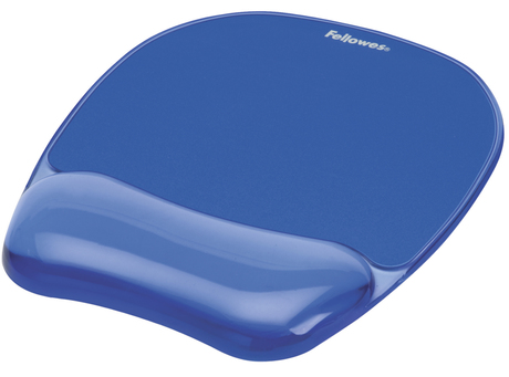Tapis repose-poignet gel Fellowes, bleu