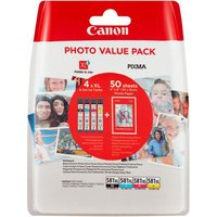 CANON CLI-581 XL Photo Value Pack inkl. 50 Blatt Canon Fotopapier PP-201 - Cartouche d